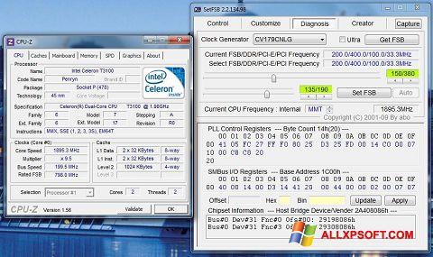 Ekran görüntüsü SetFSB Windows XP