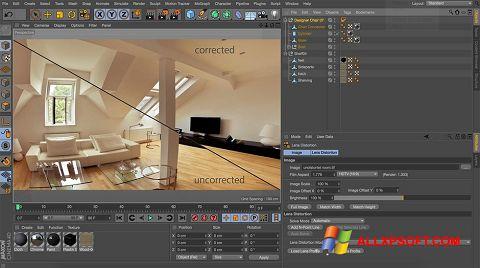 Ekran görüntüsü CINEMA 4D Windows XP
