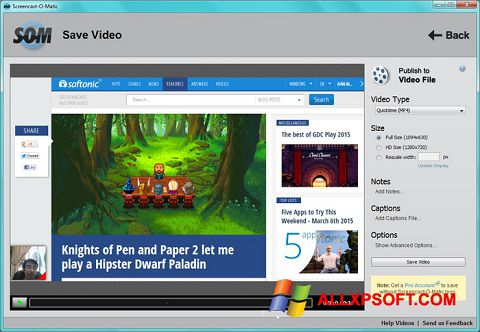 Ekran görüntüsü Screencast-O-Matic Windows XP