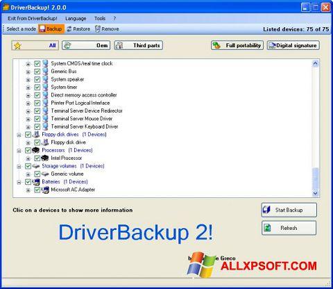 Ekran görüntüsü Driver Backup Windows XP