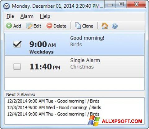 Ekran görüntüsü Free Alarm Clock Windows XP