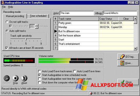 Ekran görüntüsü Audiograbber Windows XP