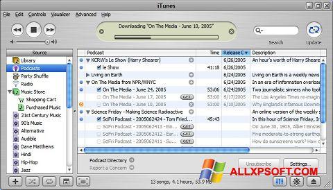 Ekran görüntüsü iTunes Windows XP