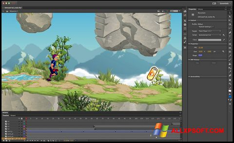 Ekran görüntüsü Adobe Flash Professional Windows XP