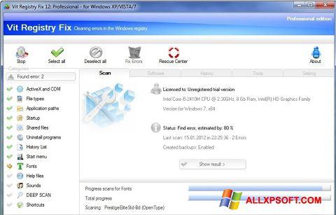 Ekran görüntüsü Vit Registry Fix Windows XP
