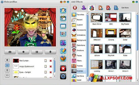 Ekran görüntüsü WebcamMax Windows XP