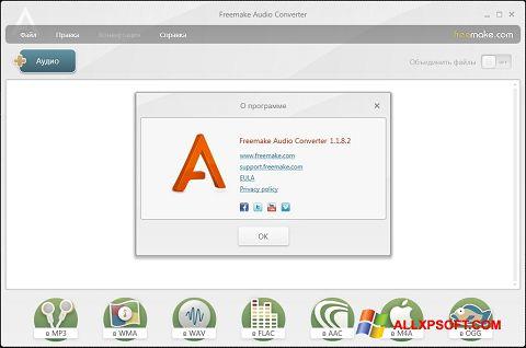 Ekran görüntüsü Freemake Audio Converter Windows XP
