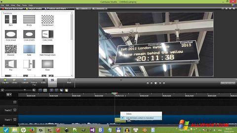 Ekran görüntüsü Camtasia Studio Windows XP