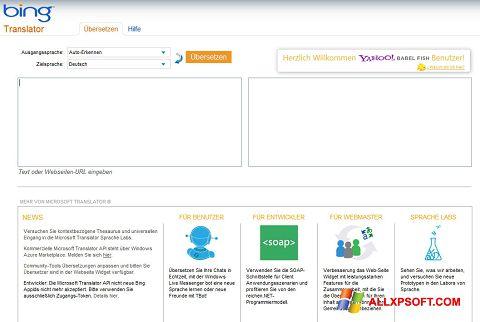 Ekran görüntüsü Bing Translator Windows XP