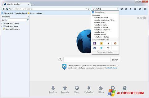 Ekran görüntüsü Waterfox Windows XP