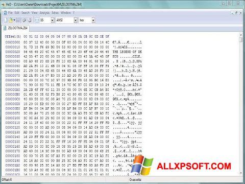 Ekran görüntüsü Hex Editor Windows XP