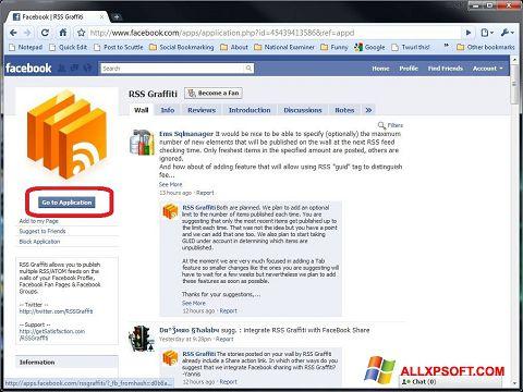 Ekran görüntüsü Facebook Windows XP