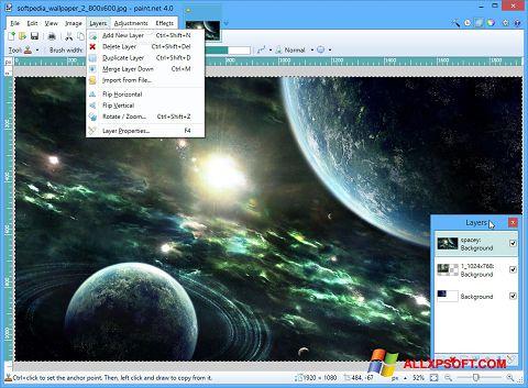 Ekran görüntüsü Paint.NET Windows XP