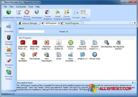 Ekran görüntüsü Revo Uninstaller Pro Windows XP